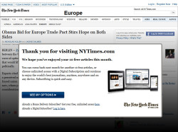 Paywall der New York Times